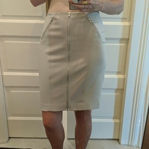Rebecca Taylor leather embossed pencil skirt